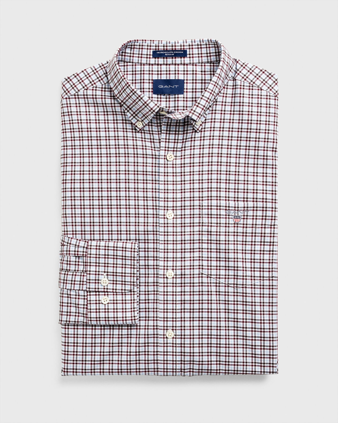Regular Fit Three-Color Gingham Broadcloth Shirt