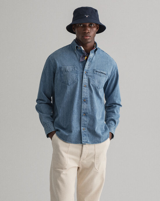 Rough Weather Relaxed Fit Denim Hemd