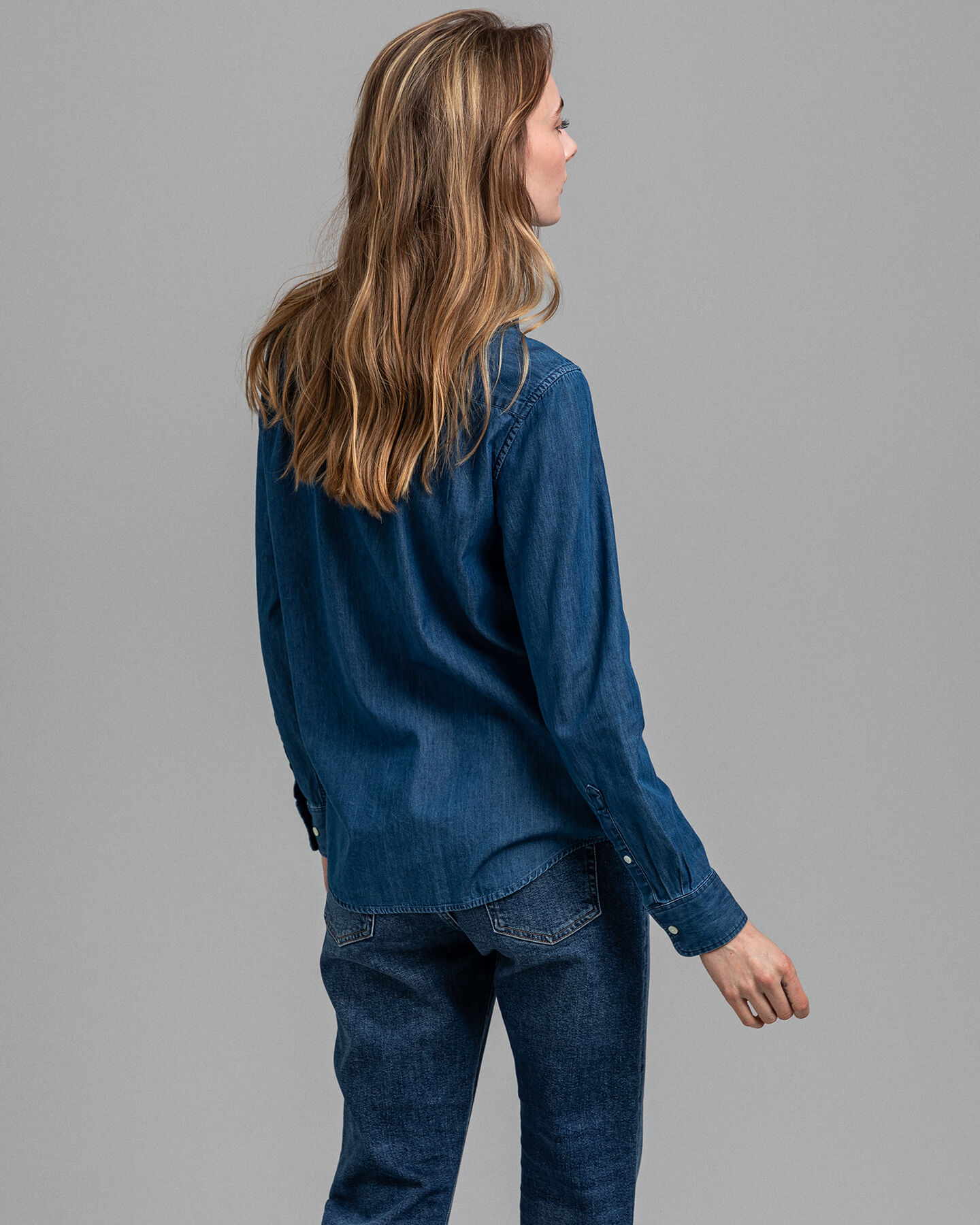 Luxury Chambray Bluse