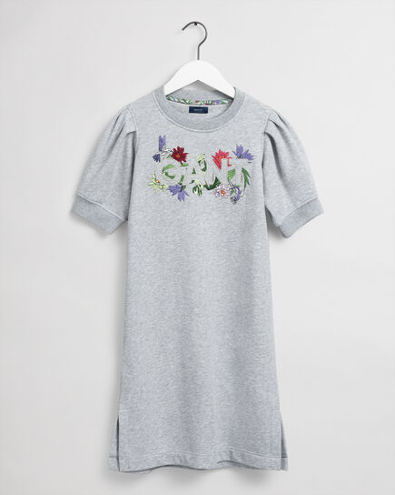 Teen Girls Flower Logo Sweatkleid