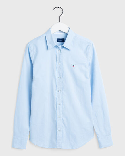 Stretch Oxford-Bluse