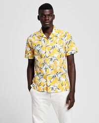 Lemon Print Regular Fit Kurzarm Hemd