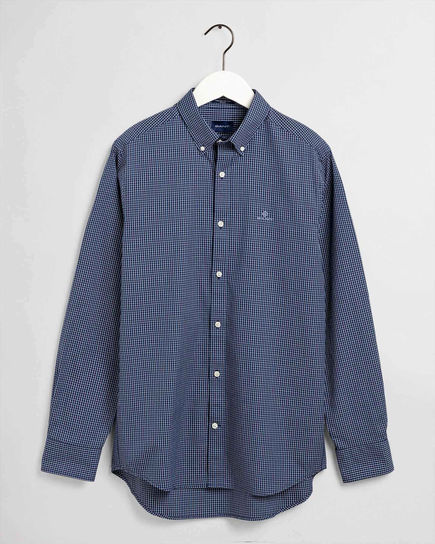 Regular Fit Pinpoint Oxford-Hemd mit Tattersall-Muster