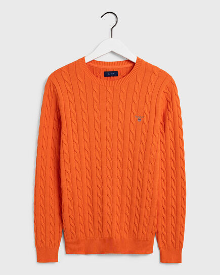 Cotton Cable Crew Sweater