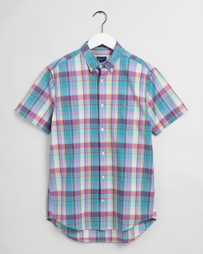 Indian Madras Regular Fit Kurzarm Hemd