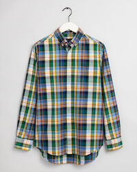 Regular Fit Tartan Oxford-Hemd