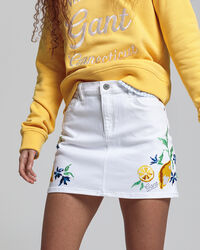 Teen Girls Summer Twill Rock mit Stickerei