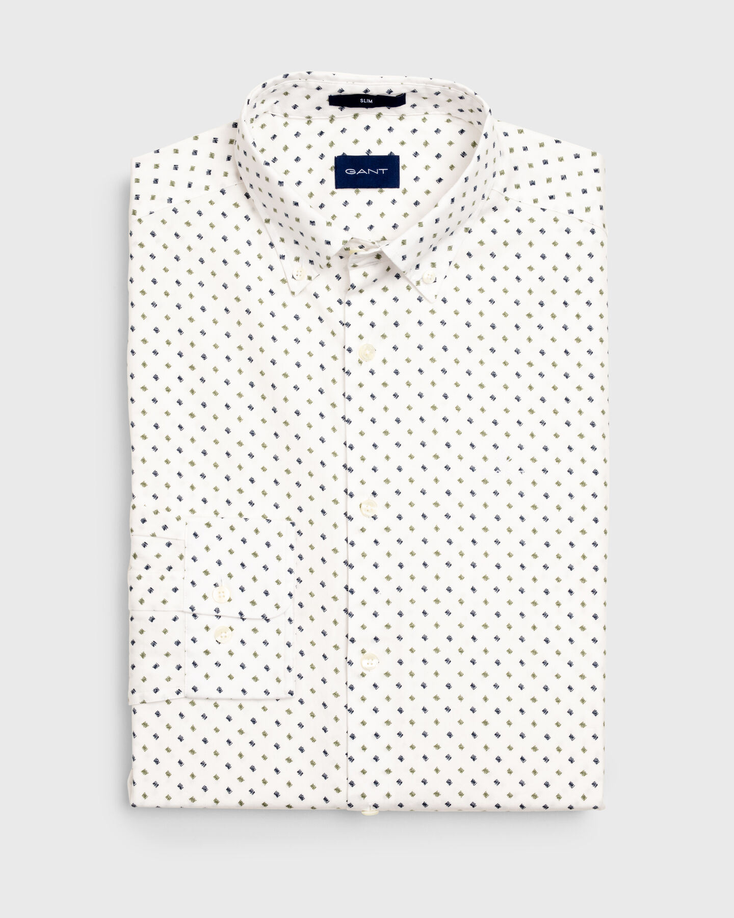 Slim Fit Micro Scribble Print Shirt