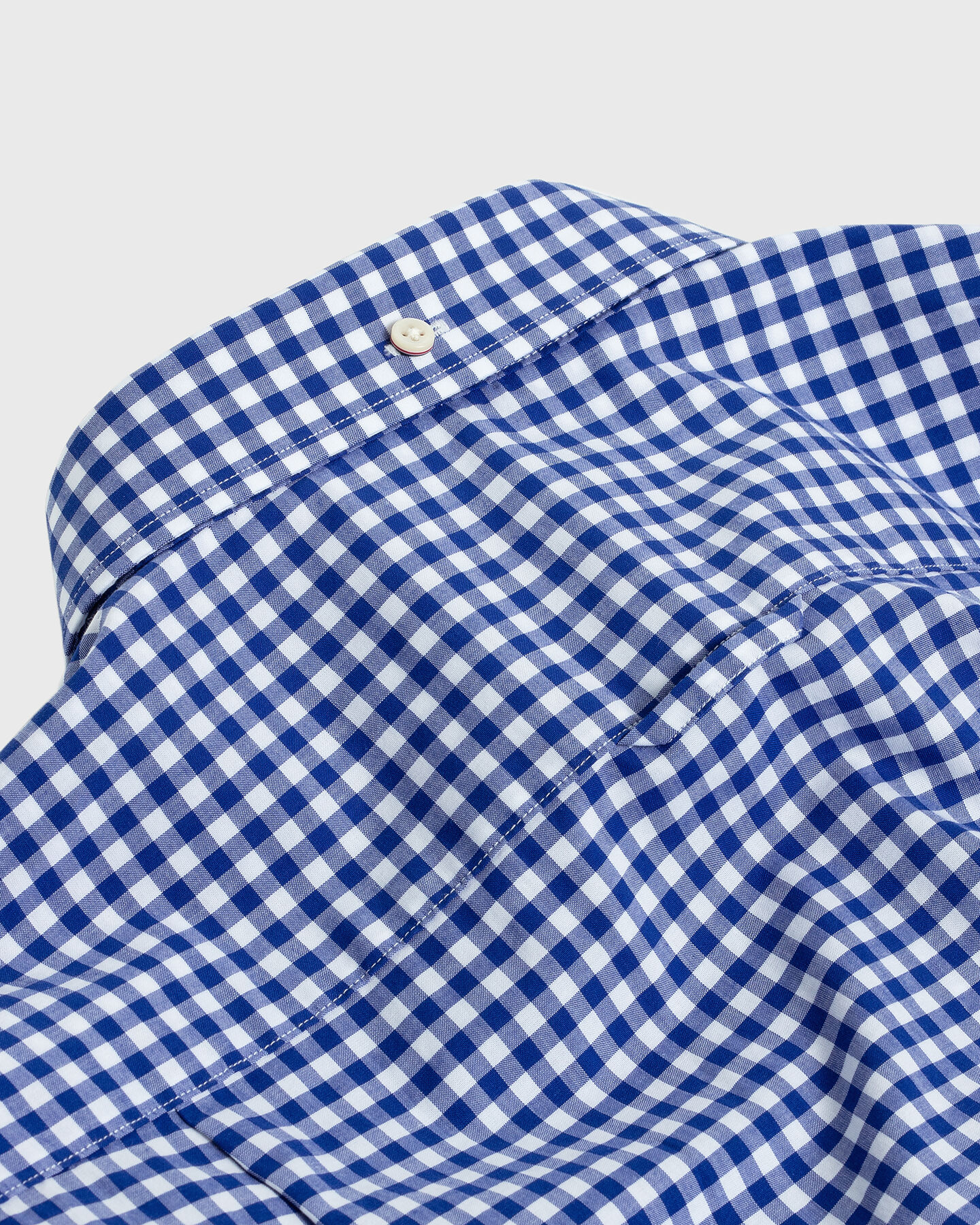 Slim Fit Broadcloth Hemd mit Vichy-Karo