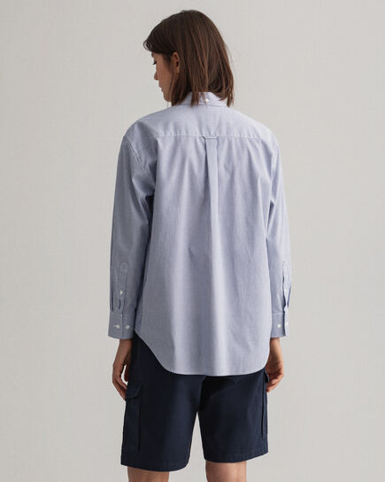 Relaxed Fit Pinpoint Oxford-Bluse mit Streifen