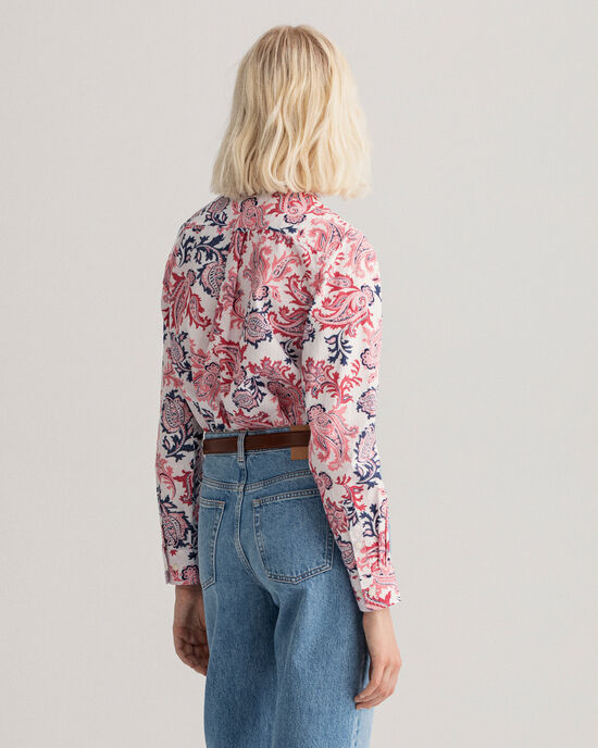 Broadcloth Bluse mit Paisley-Muster