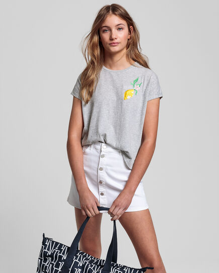 Teen Girls Summer T-Shirt mit Stickerei