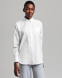 Relaxed Pinpoint Oxford-Bluse