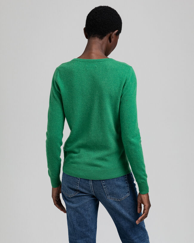 V-Neck Pullover aus Extra Fine Lambswool