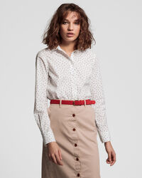 French Dot Stretch Broadcloth Bluse