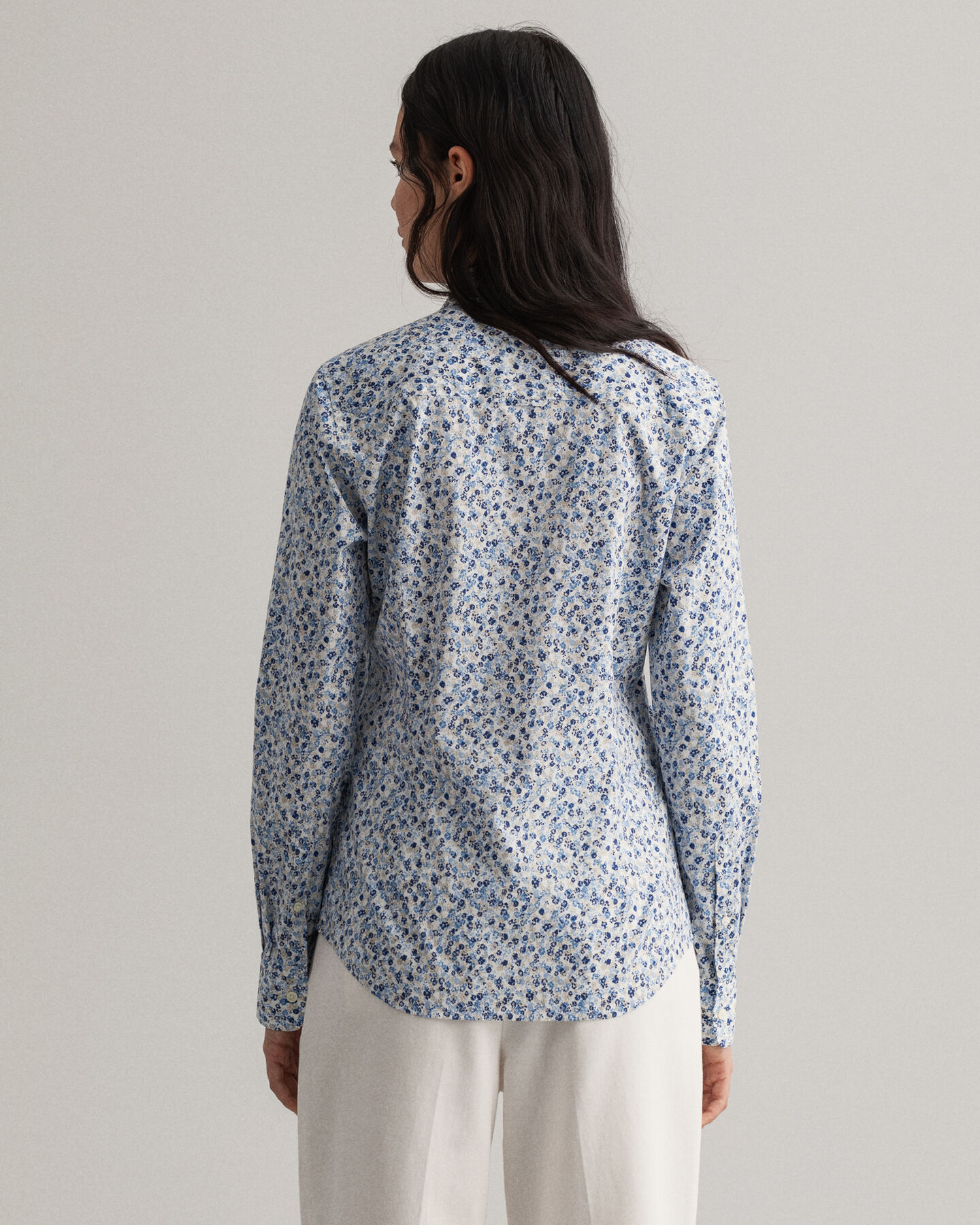 Micro Bouquet Stretch Broadcloth Bluse mit Print