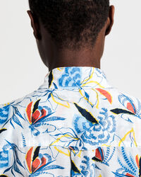 Floral Fly Fishing Cotton Silk Shirt